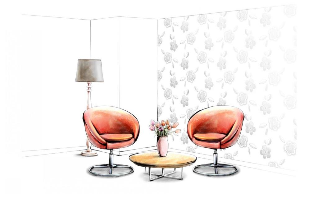 天元莎莎-创意室内设计手绘图软装室内设计图设计师